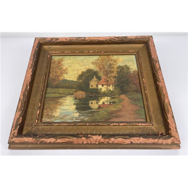 Very Nice Antique Oil on Board Painting