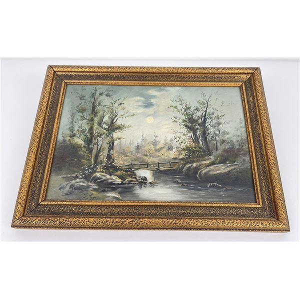 Antique Oil on Board Painting