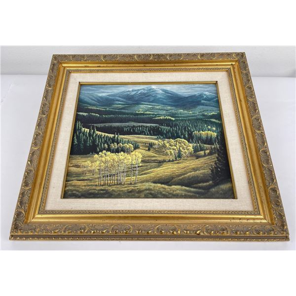 Dave Samuelson Oil on Board Montana Painting