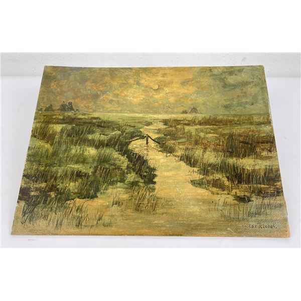 Watercolor on Board Marshlands
