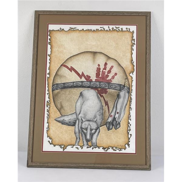 Montana Indian Watercolor Painting