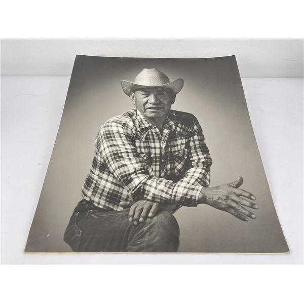 Silver Gelatin Montana Cowboy Photo