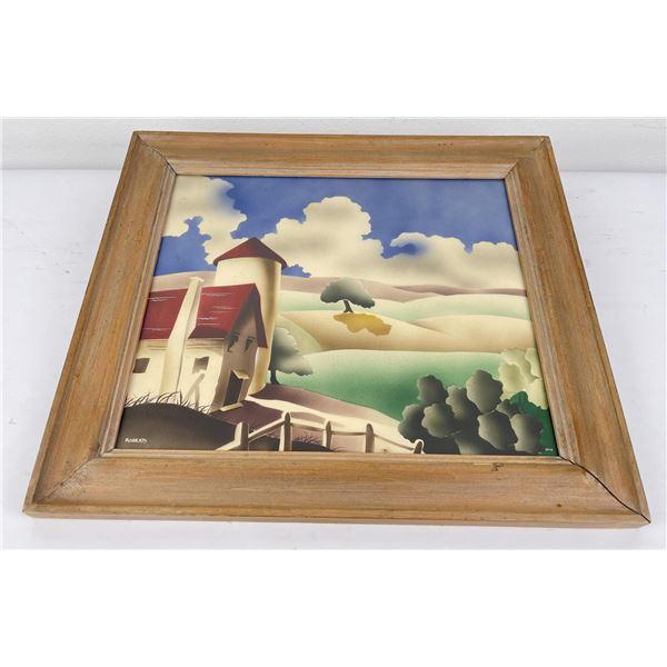Newman Decor Airbrush Farm Scene Painting