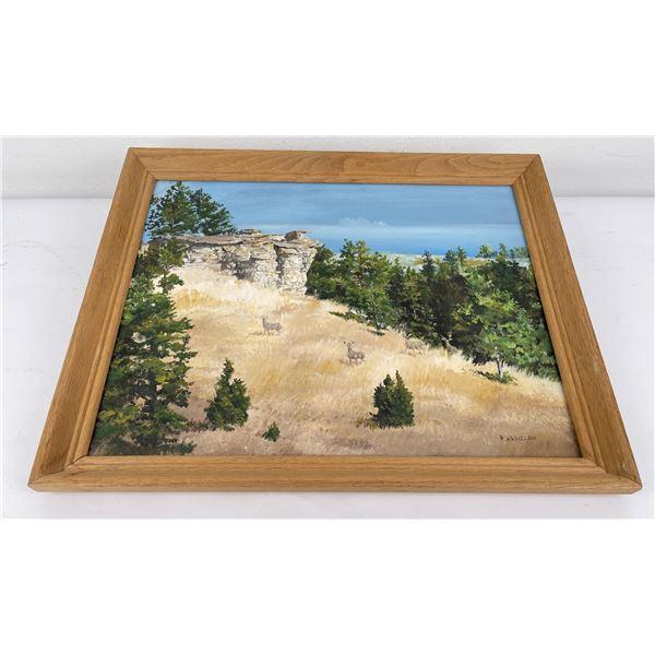 Paul Arbizzani Montana Mountain Painting