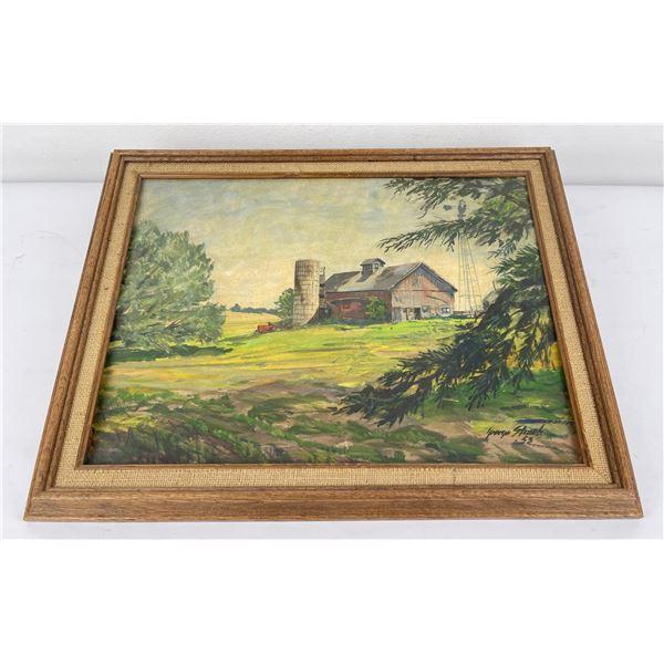 Barrington Illinois Oil on Board Painting