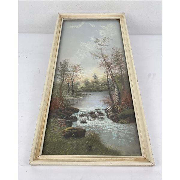 Campbell Oil on Board Painting Stream