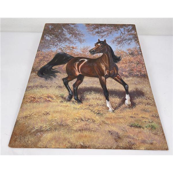 Arlee Fairbanks Texas Watercolor Horse Painting