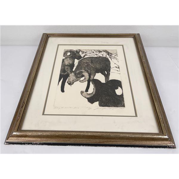 Susan Champion Bighorn Sheep Engraving