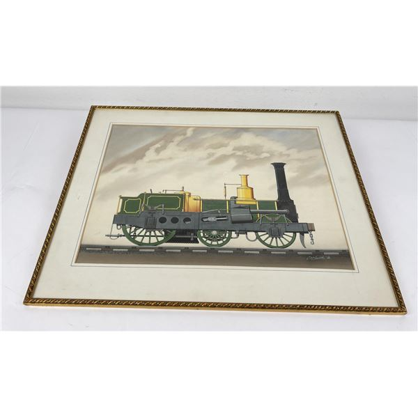 Railroad Watercolor Painting Charles William Smith