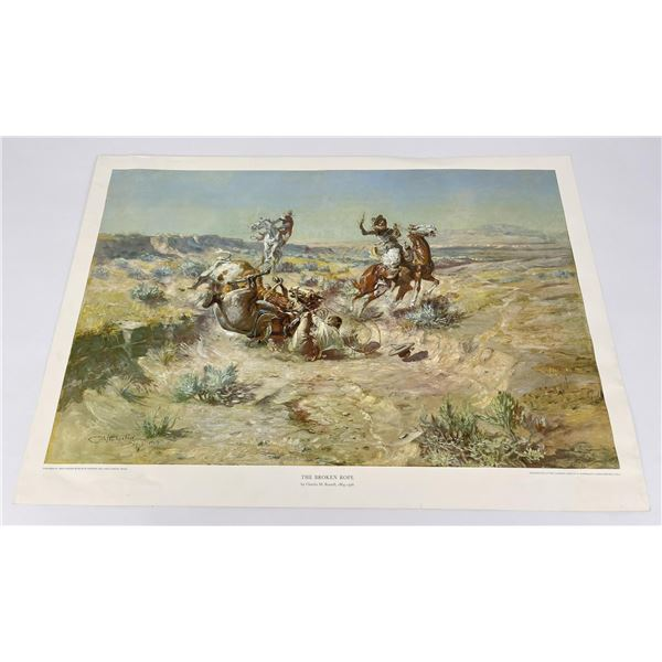 The Broken Rope Charles Russell Montana Print #1
