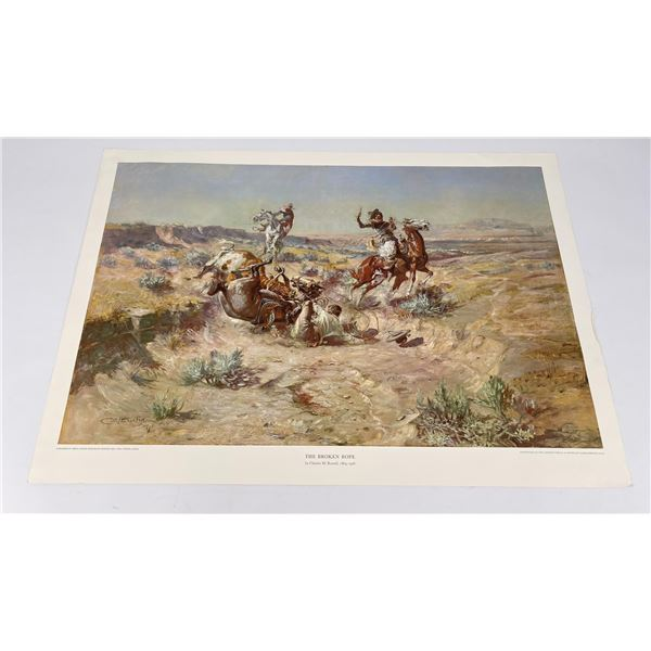 The Broken Rope Charles Russell Montana Print #2