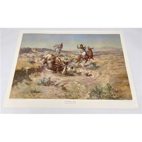 The Broken Rope Charles Russell Montana Print #3