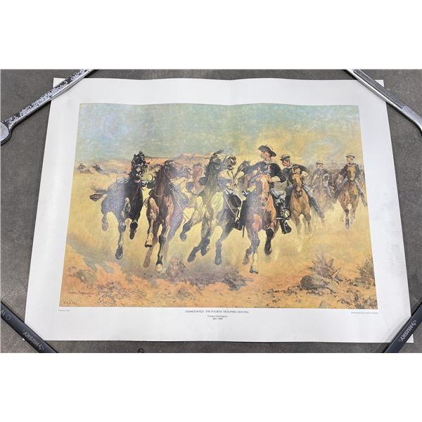 Dismounted Frederick Remington Print