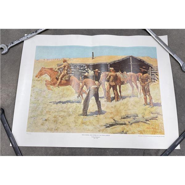 The Pony Express Frederick Remington Print