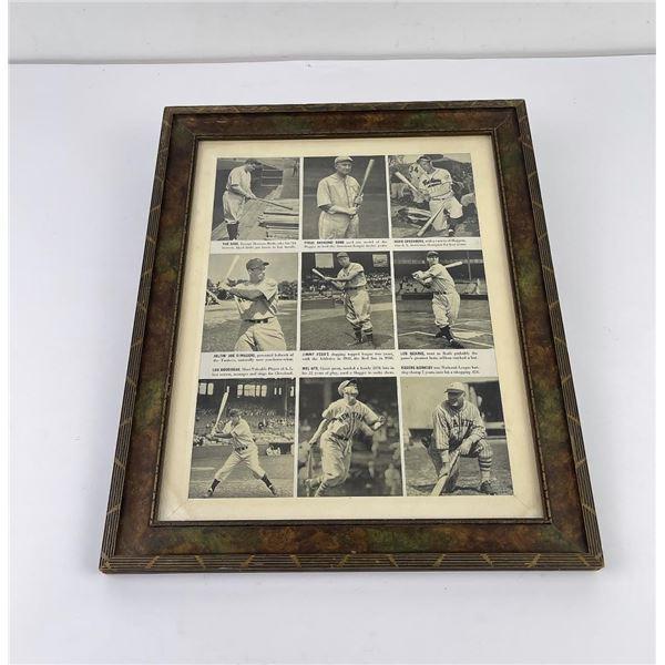 Early American Baseball Print Babe Ruth Ty Cobb
