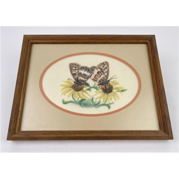 Montana Moth Watercolor Painting