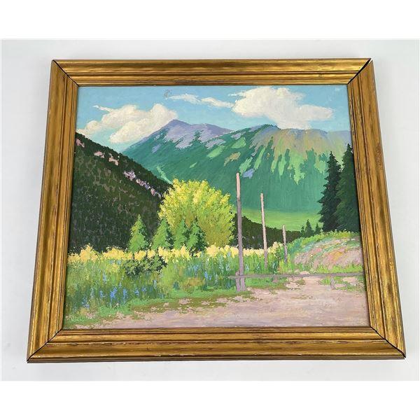 Missoula Montana Oil Painting on Canvas