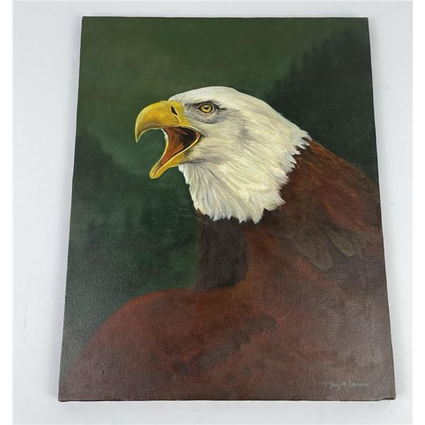 Tony Sandoval Oil on Canvas Painting Montana