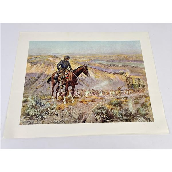 Charles M Russell Print Montana The Wagon Boss