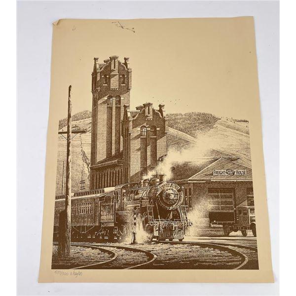 Stan Hughes Missoula Montana Railroad Print