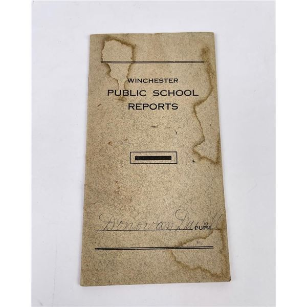 1916 Winchester Public Schools Report Card