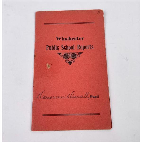 1918 Winchester Public Schools Report Card