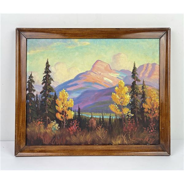 Harry L. Lopp Glacier Park Montana Oil on Canvas