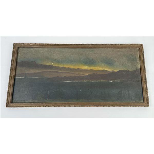 Montana Flathead Lake Oil on Board Painting