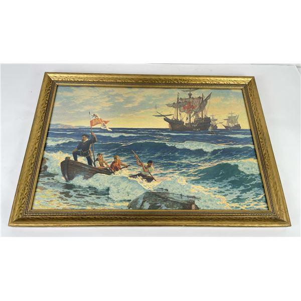 Antique Nautical Print