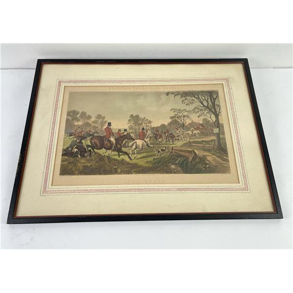 Herring's Fox Hunting Scenes Antique Print