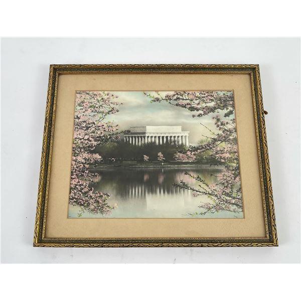 Buckingham Lincoln Memorial Hand Tinted Photo