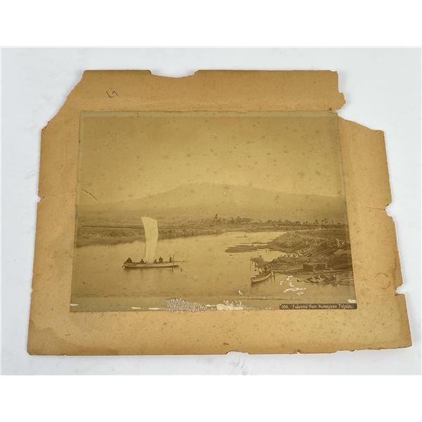Antique Japanese Fujiyama Photo