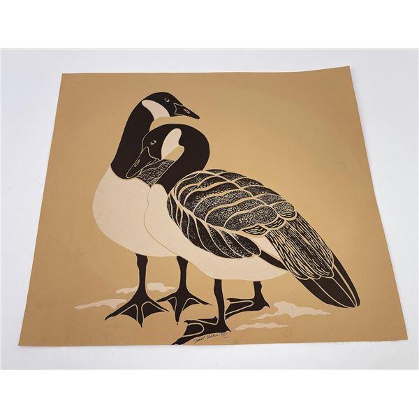 Northwest Coast Serigraph Print Geese