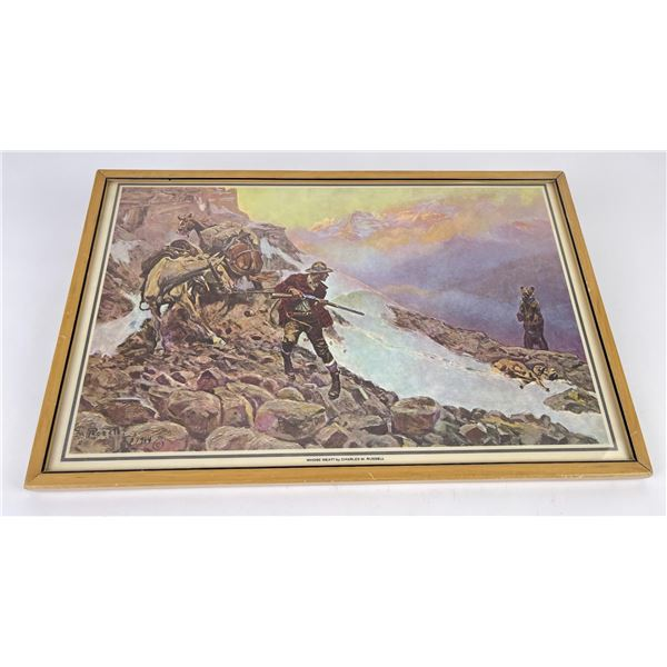 Charles M Russell Print Montana Whose Meat Print