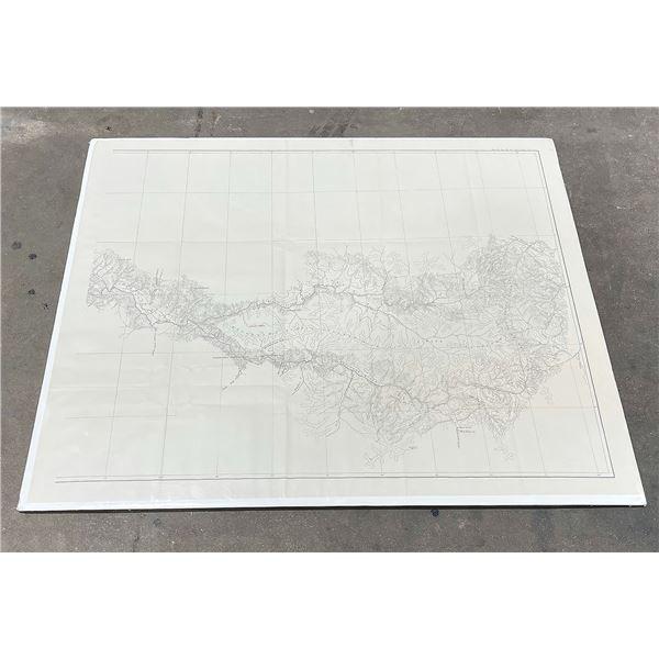 Antique Montana Blackfoot River Alluvial Map