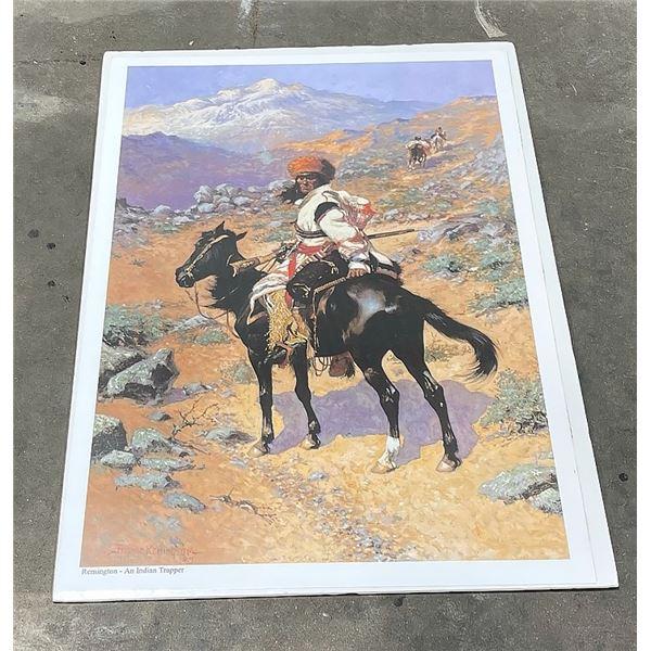 Frederic Remington Indian Trapper Print