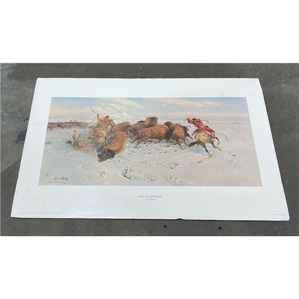 John Clymer Hunt at Crowheart Signed Print