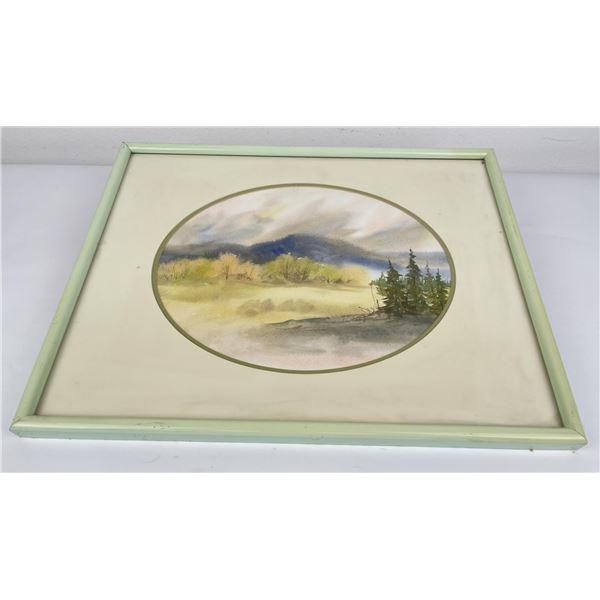 Montana Watercolor Painting Ellig