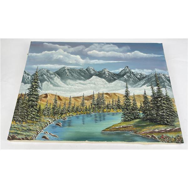 Glacier Park Montana Oil on Canvas Painting