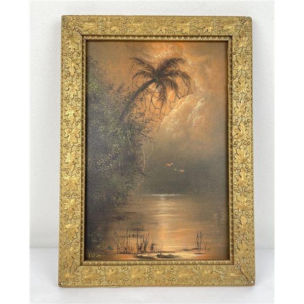 Antique Hawaiian Painting on Board