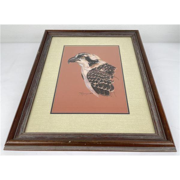 C.S. Poppenga Hawk Painting Montana