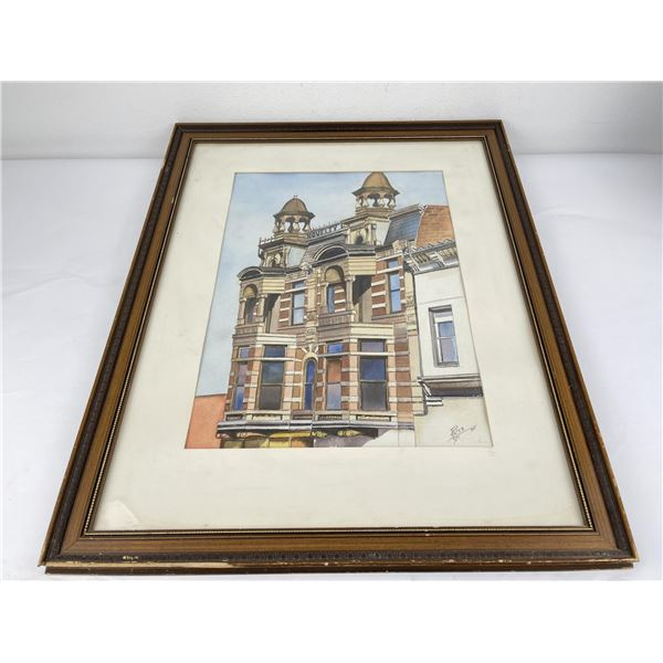 Montana Architectural Watercolor Painting