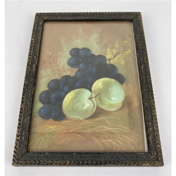 Still Life Pastel of Grapes and Pears