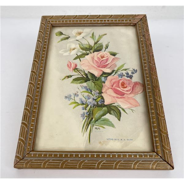Antique Goes Roses Print