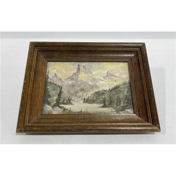 Montana Mountain Oil Painting