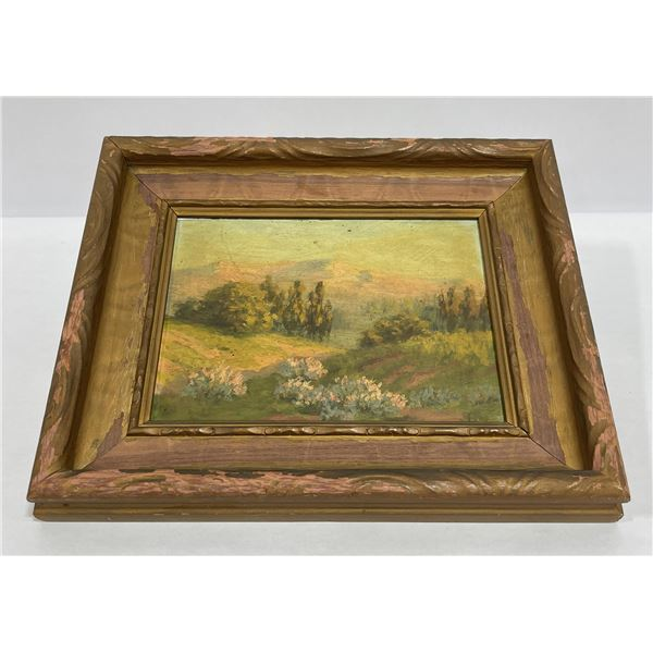 Nice Old California Oil on Board Painting
