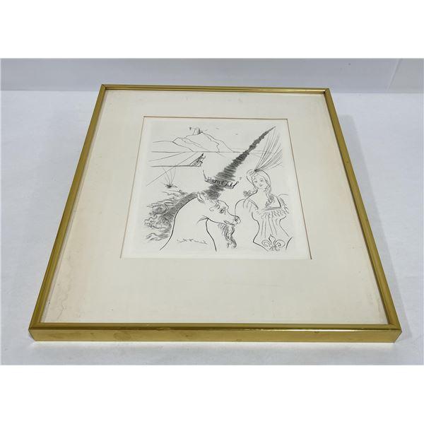 Salvador Dali The Lady and the Unicorn Print