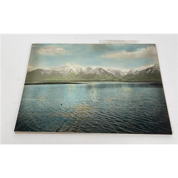 Flathead Lake Montana Hand Tinted Photo