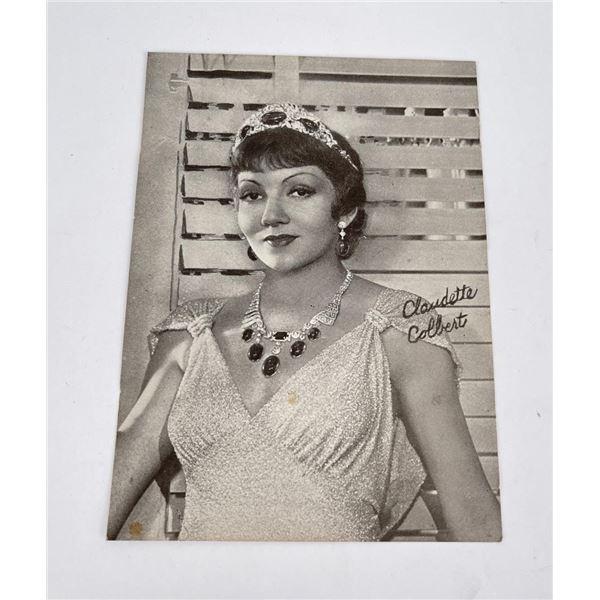 Antique Claudette Colbert Press Photo