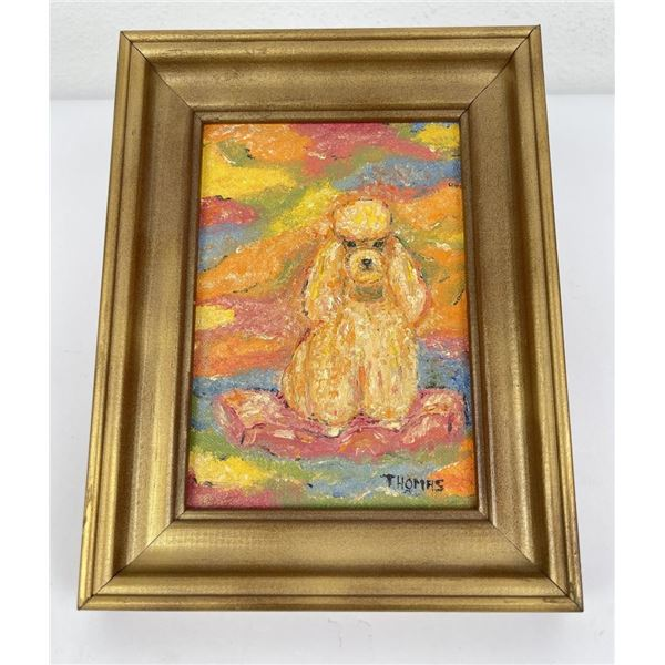 Poodle Oil on Board Painting